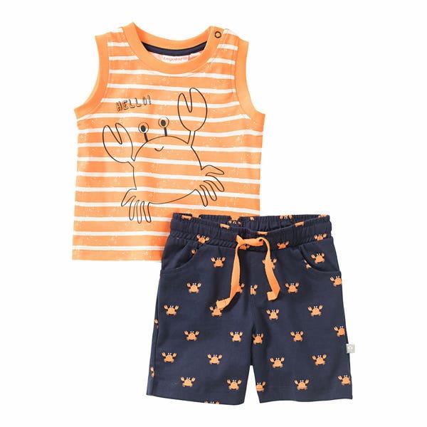 Baby-Jungen-Set mit Krabben-Muster, 2-teilig