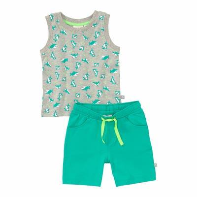 Baby-Jungen-Set mit Hai-Aufdruck, 2-teilig