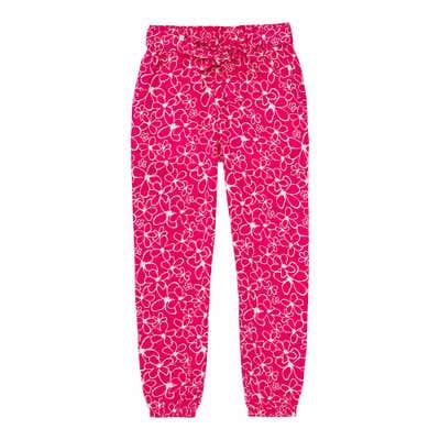 Mädchen-Hose mit Blumen-Muster