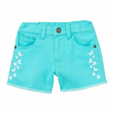 Mädchen-Shorts mit Schmetterlings-Stickerei