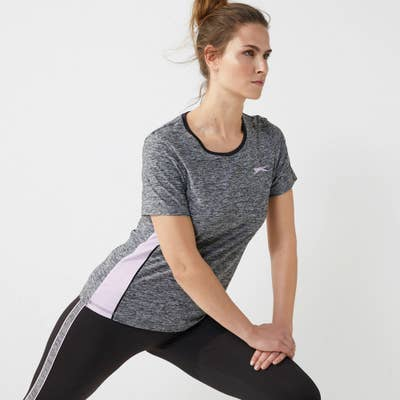 Slazenger Damen-Sport-T-Shirt mit seitlichen Einsätzen