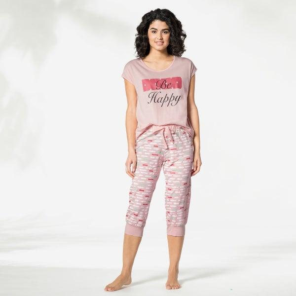 Damen-Schlafanzughose in 3/4-Länge