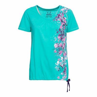 Damen-Sport-T-Shirt mit Blumen-Muster