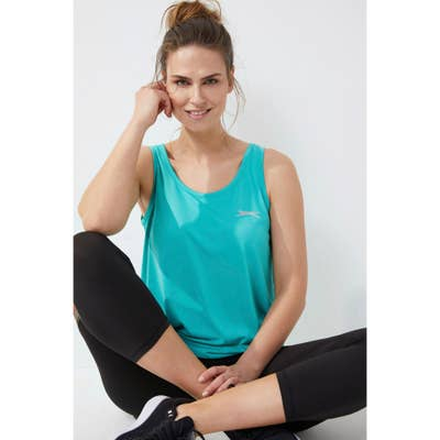 Slazenger Damen-Sport-Top mit Gummiband am Saum