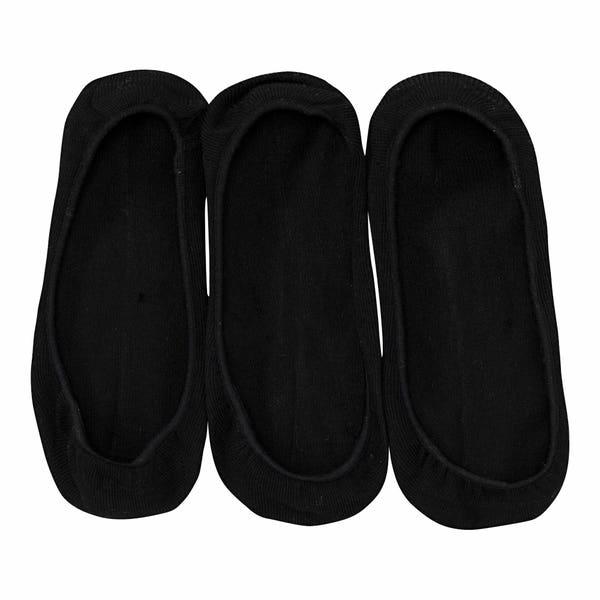 Damen-Füßlinge mit Antirutsch-Funktion, 3er-Pack