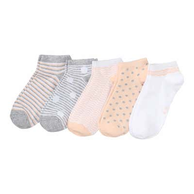 Damen-Sneaker-Socken mit verschiedenen Mustern, 5er-Pack