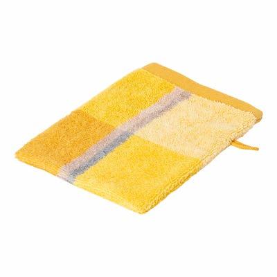 Waschhandschuh mit Karo-Muster, ca. 16x21cm