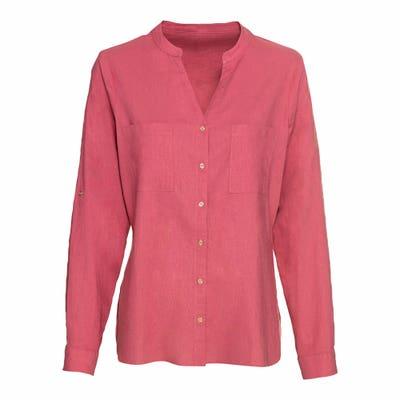 Damen-Bluse mit Leinen-Anteil
