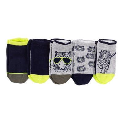 Jungen-Sneaker-Socken,5er-Pack