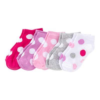 Kinder-Sneaker-Socken mit verschiedenen Mustern, 5er-Pack