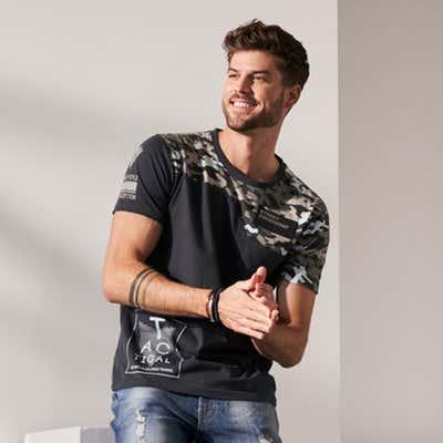 Herren-T-Shirt mit Camouflage-Muster