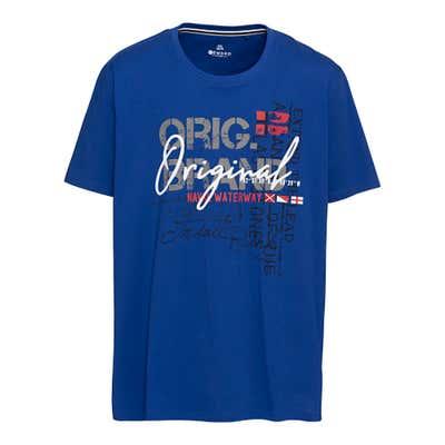 Herren-T-Shirt mit Frontaufdruck, große Größen