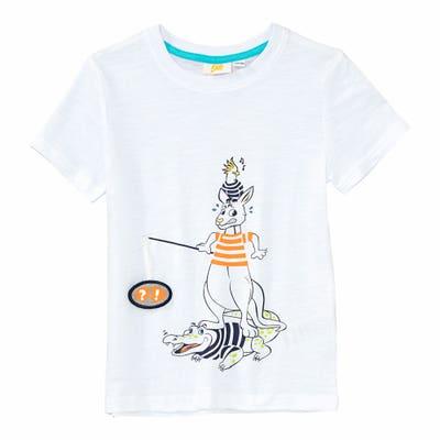 Jungen-T-Shirt mit Tier-Aufdruck