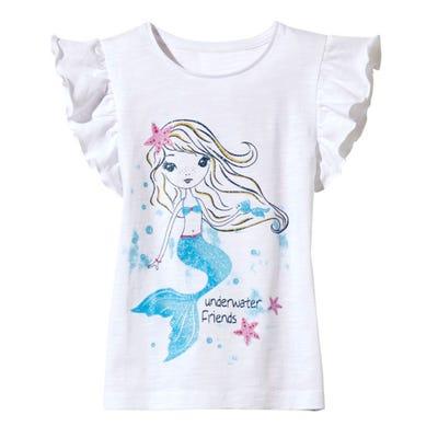 Mädchen-T-Shirt mit Meerjungfrauen-Motiv