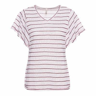 Damen-T-Shirt mit Ringel-Muster