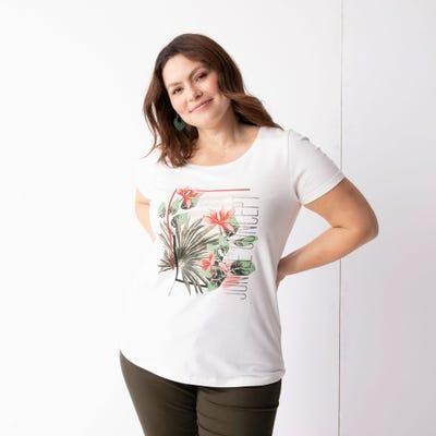 Damen-T-Shirt mit Front-Aufdruck, große Größen