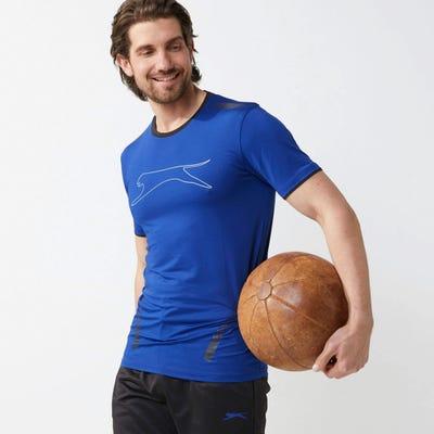 Slazenger Herren-Sport-T-Shirt mit großem Logo