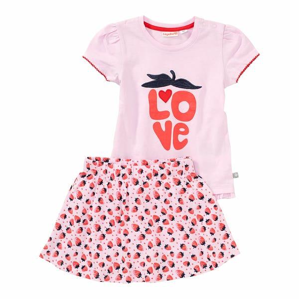 Baby-Mädchen-Set mit Erdbeer-Muster, 2-teilig