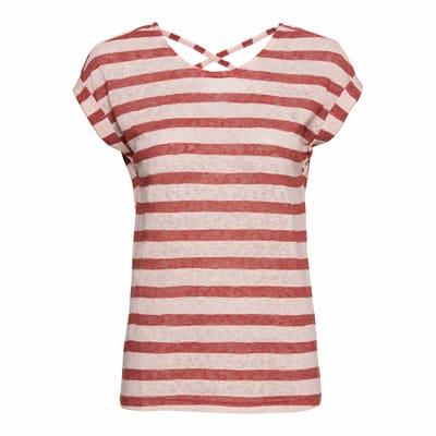 Damen-T-Shirt mit Schnürung am Rücken