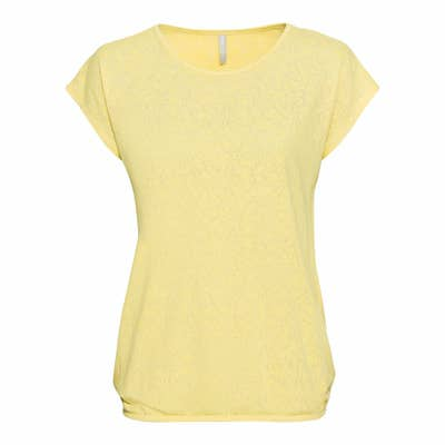 Damen-T-Shirt mit Ausbrenner-Muster