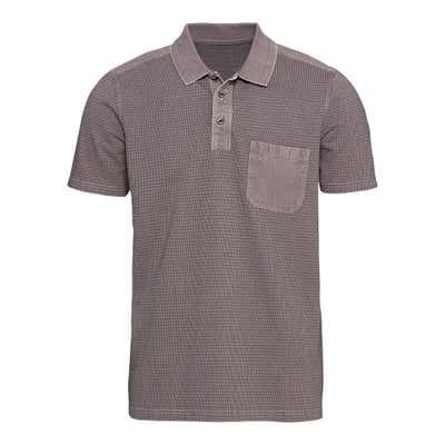 Herren-Poloshirt mit Kontrasteinsätzen