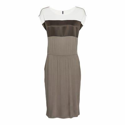 Damen-Kleid mit Blockstreifen