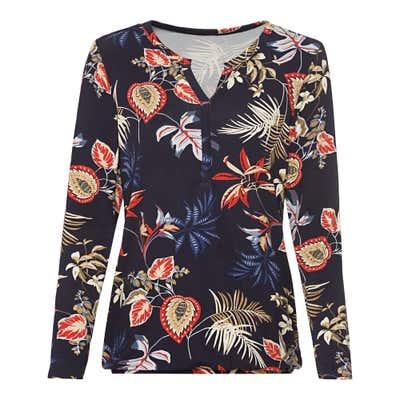 Damen-Shirt mit Knopfleiste