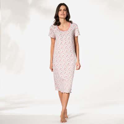 Damen-Nachthemd mit Raffung