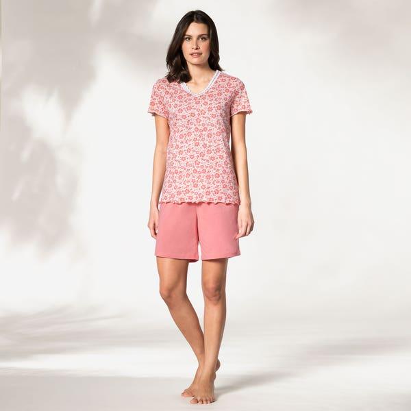 Damen-Schlafanzug mit kurzer Hose