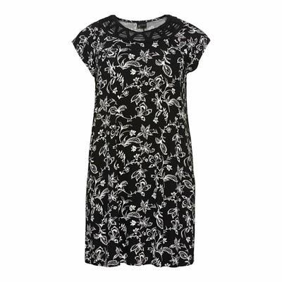 Damen-Kleid mit Blumen-Muster, große Größen