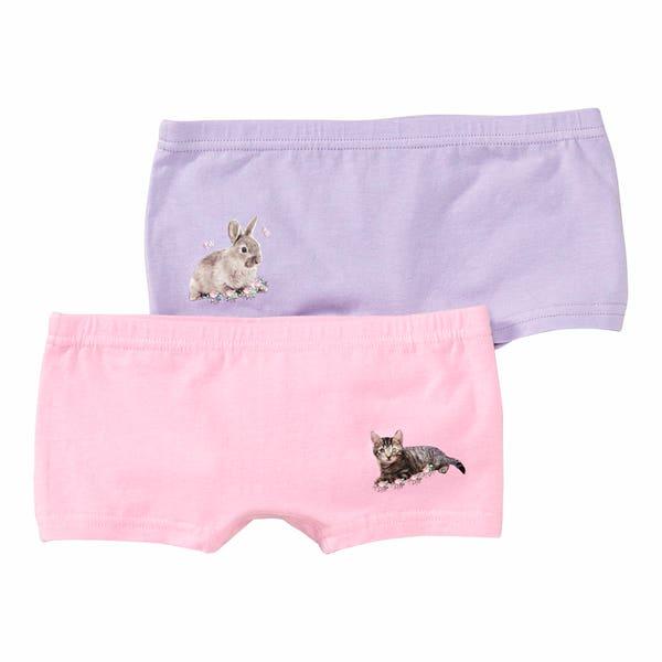 Mädchen-Panty mit Tierfoto-Aufdruck, 2er-Pack