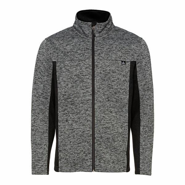 Herren-Strickfleece-Jacke mit Kontrast-Einsätzen