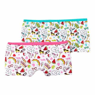 Mädchen-Panty mit Sommer-Muster, 2er Pack