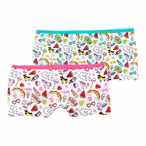 Mädchen-Panty mit Sommer-Muster, 2er-Pack