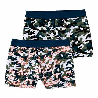 Jungen-Retroshorts mit Camouflage-Muster, 2er-Pack