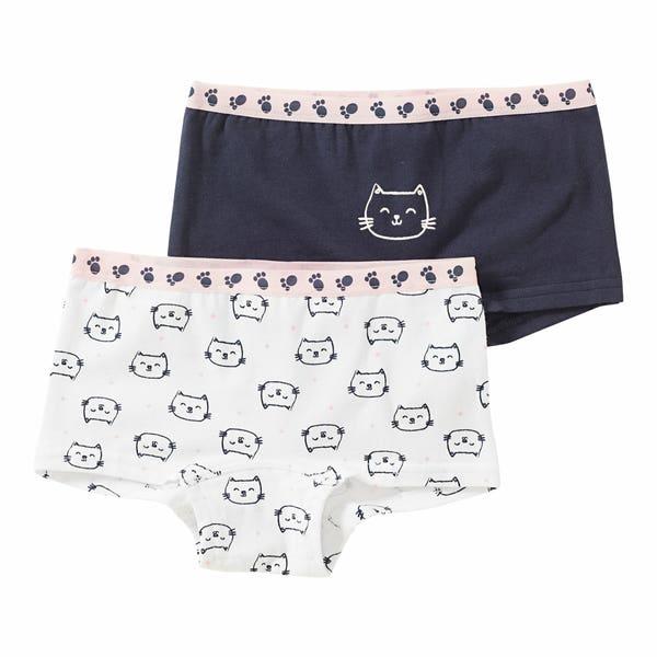 Mädchen-Panty mit Katzen-Muster, 2er-Pack