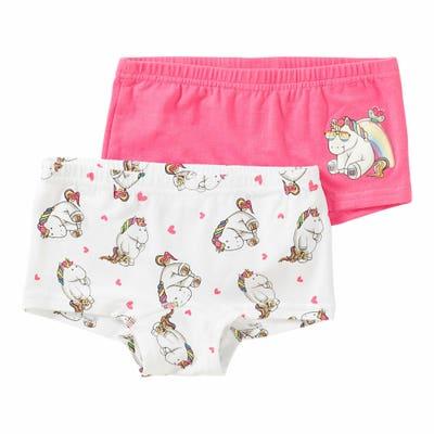 Mädchen-Panty mit Einhorn-Motiv, 2er-Pack