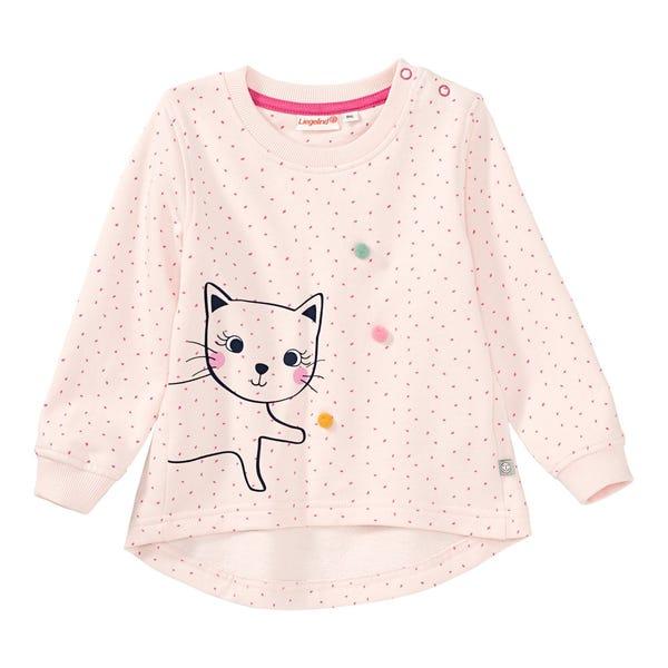 Baby-Mädchen-Sweatshirt mit Katzen-Aufdruck