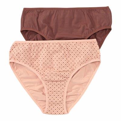 Damen-Rioslip mit hübschem Muster, 2er Pack