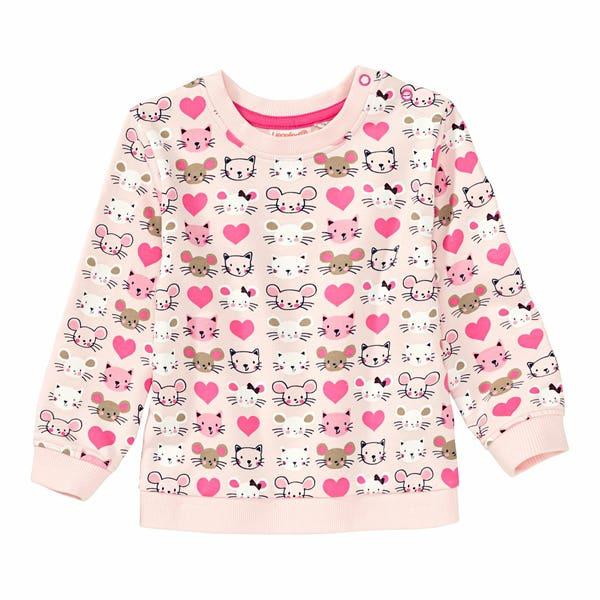 Baby-Mädchen-Sweatshirt mit süßem Muster