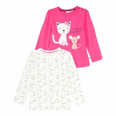 Baby-Mädchen-Shirt, 2er-Pack