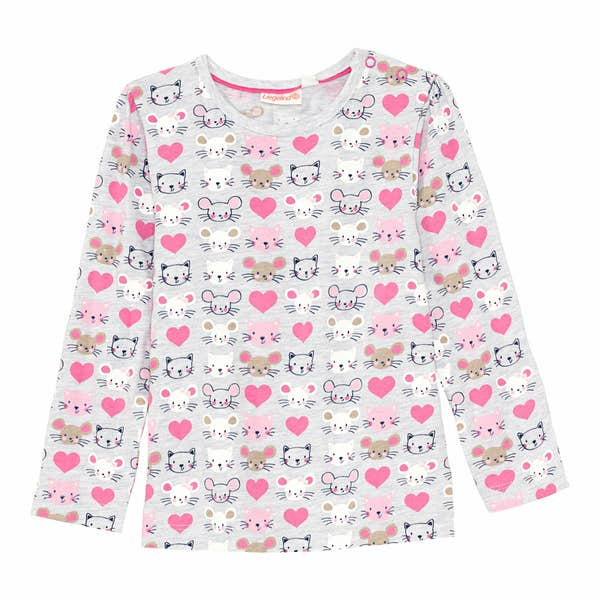 Baby-Mädchen-Shirt mit tollem Muster