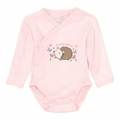 Baby-Mädchen-Wickelbody mit Igel-Aufdruck