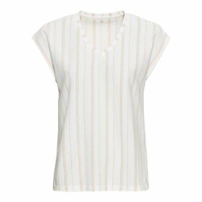 Damen-T-Shirt mit Glitzerfäden