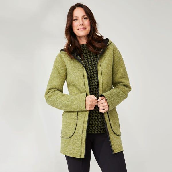 Damen-Mantel mit aufgesetzten Taschen