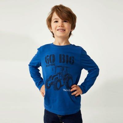 Jungen-Shirt mit Traktor-Frontaufdruck