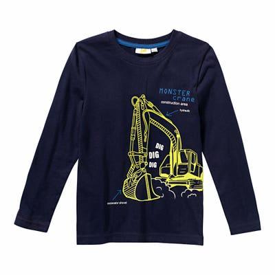 Jungen-Shirt mit Bagger-Aufdruck