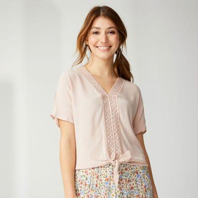 Damen-Bluse mit Zierknoten