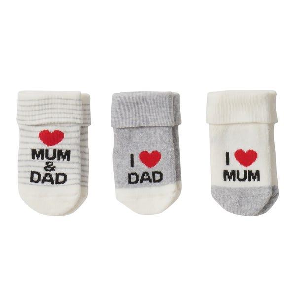 Baby-Socken Unisex, 3er-Pack