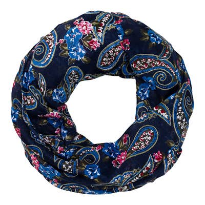 Damen-Loop-Schal mit Blumenmuster